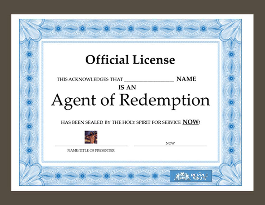 Agent of Redemption Official License