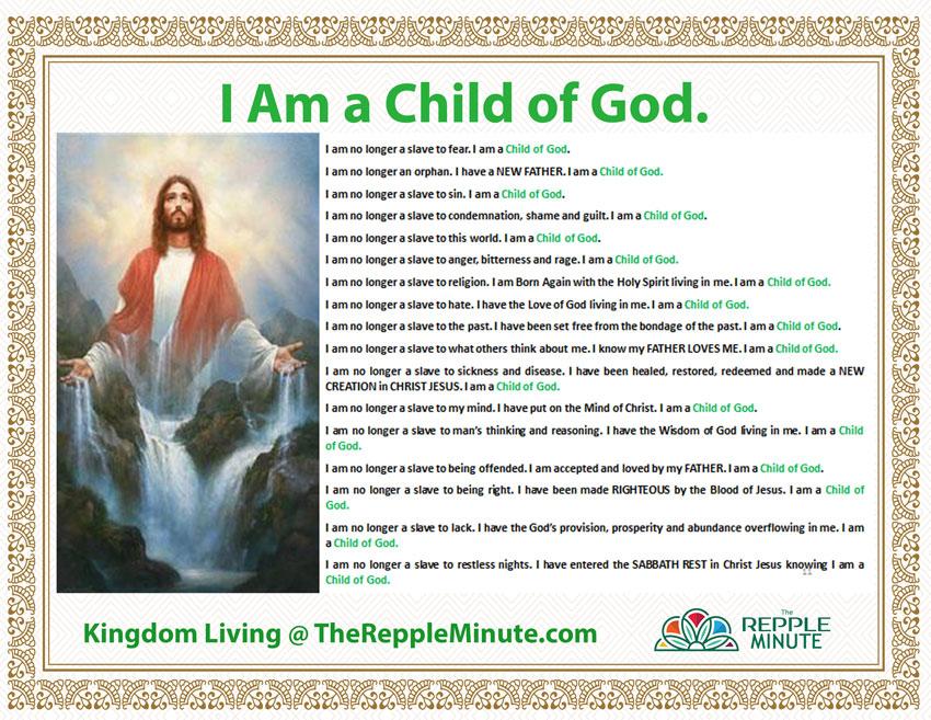 I am a Child of God Affirmations